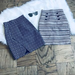 Bundle of H&M Printed Pencil Skirts